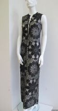 1960's Black lace full length vintage evening gown Simon Ellis **SOLD**